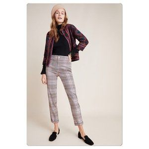 Anthropologie Malcolm Plaid Trousers NWT Size 8